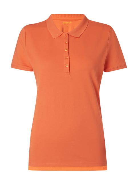 Poloshirt aus Jersey Orange - 1