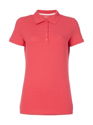 Poloshirt mit Punktemuster Rosé - 1