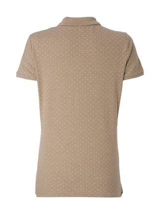 Montego Poloshirt mit Punktemuster Taupe meliert - 1
