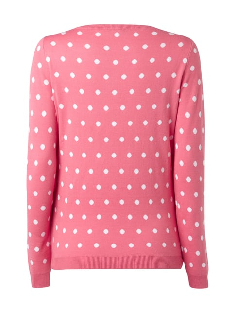 Montego Pullover mit Polka Dots Pink - 1