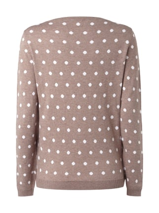 Montego Pullover mit Polka Dots Taupe meliert - 1