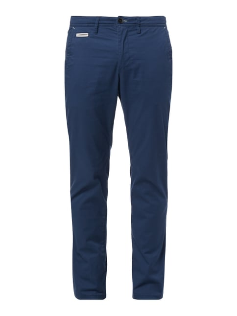 Regular Fit Chino aus Baumwoll-Elasthan-Mix Blau / Türkis - 1