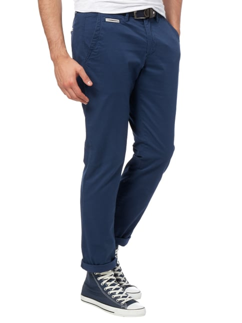 Montego Regular Fit Chino aus Baumwoll-Elasthan-Mix Blau - 1