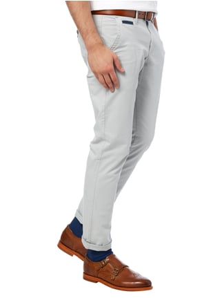 Montego Regular Fit Chino aus Baumwoll-Elasthan-Mix Kitt - 1