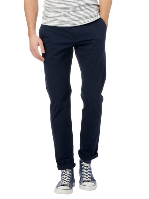 Montego Regular Fit Chino aus Baumwoll-Elasthan-Mix Marineblau - 1