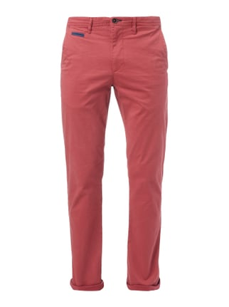 Regular Fit Chino aus Baumwoll-Elasthan-Mix Rot - 1
