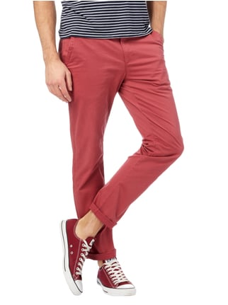 Montego Regular Fit Chino aus Baumwoll-Elasthan-Mix Rot - 1