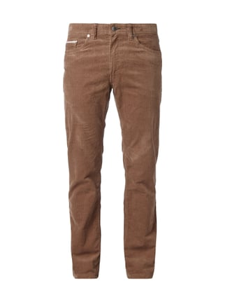 Regular Fit Cordhose mit Stretch-Anteil Weiß - 1