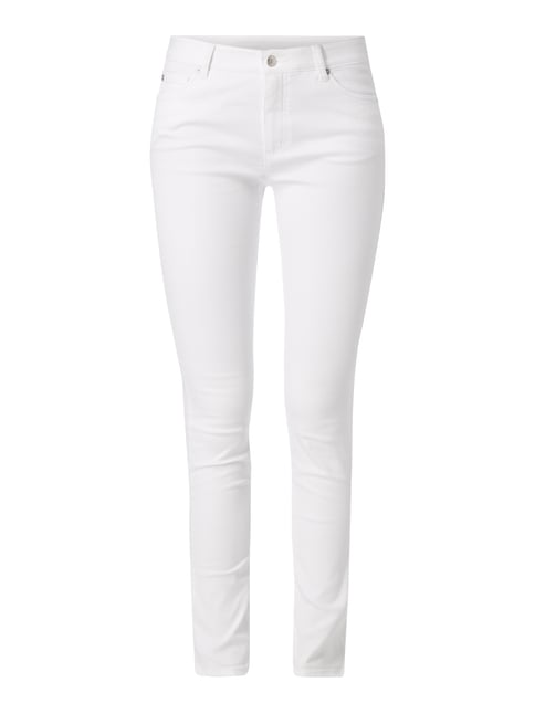 Skinny Fit Jeans mit Regular Waist Weiß - 1