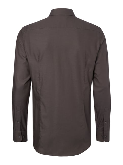 Montego Slim Fit Business-Hemd aus Twill Graphit - 1