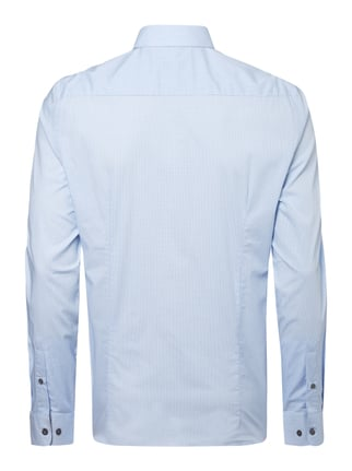 Montego Slim Fit Business-Hemd mit Kontrastausputz Eisblau - 1