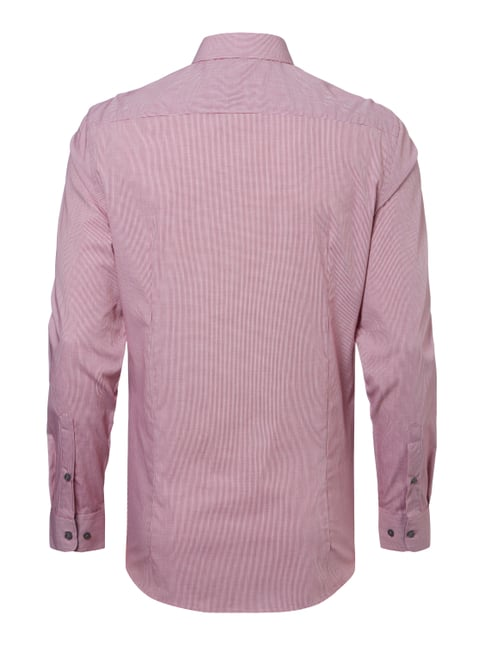 Montego Slim Fit Business-Hemd mit Kontrastausputz Rosé - 1