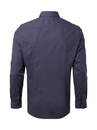 Montego Slim Fit Business-Hemd mit New Kent Kragen Marineblau - 1