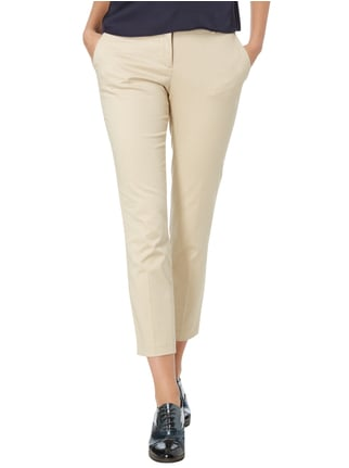 Montego Stoffhose mit Allover-Muster Taupe - 1