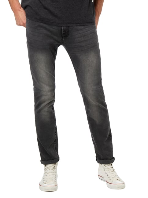 MR. F Stone Washed Slim Fit 5-Pocket-Jeans Anthrazit - 1
