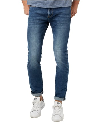 MR. F Stone Washed Slim Fit 5-Pocket-Jeans Jeans - 1
