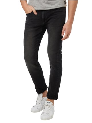 MR. F Stone Washed Slim Fit 5-Pocket-Jeans Schwarz - 1