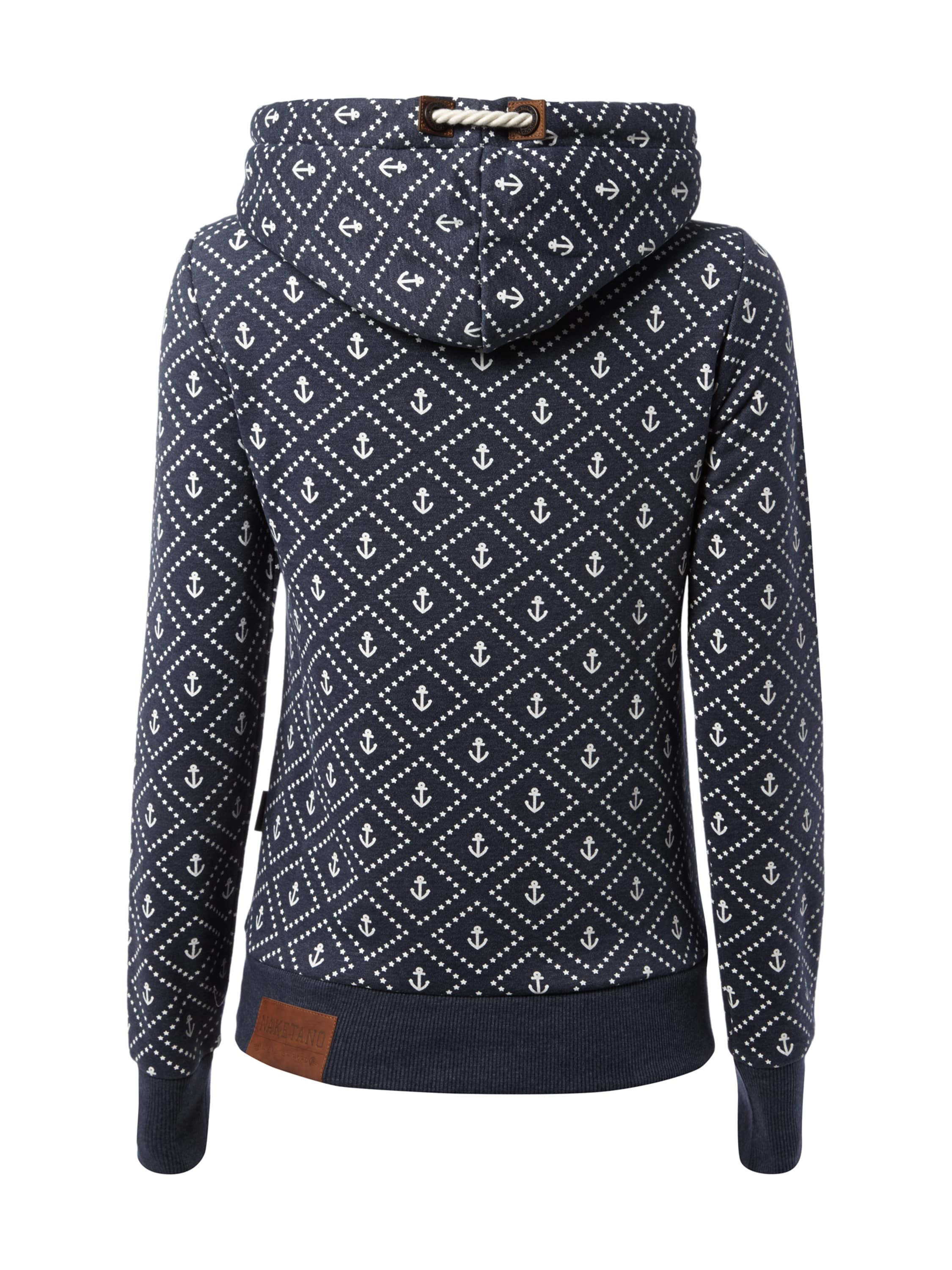 hoodie mit anker print fashion id online shop. Black Bedroom Furniture Sets. Home Design Ideas