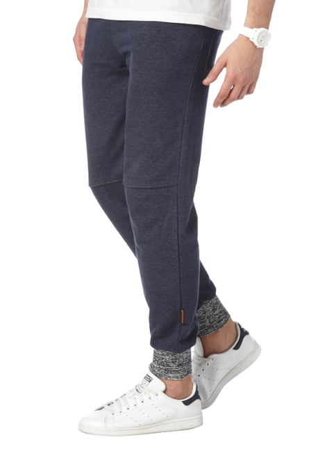 Naketano Sweatpants in Melangeoptik Marineblau meliert - 1