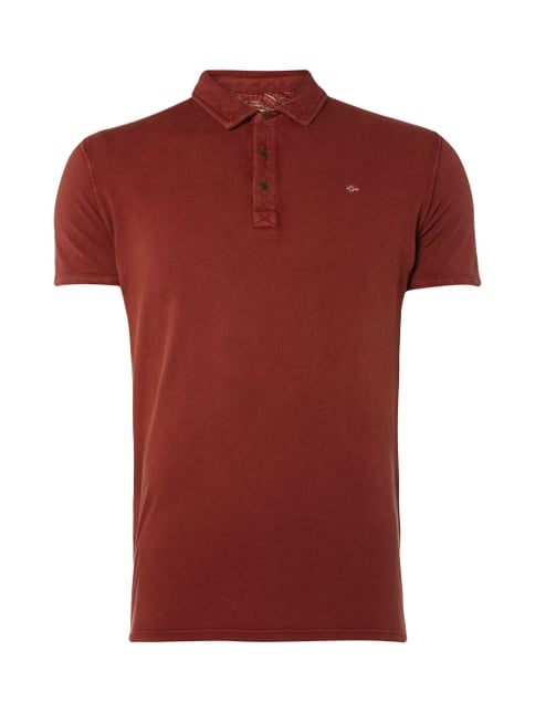 Poloshirt aus Piqué mit Logo-Stickerei Orange - 1