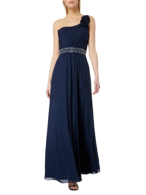 Niente Abendkleid mit One-Shoulder-Träger in Blau / Türkis - 1
