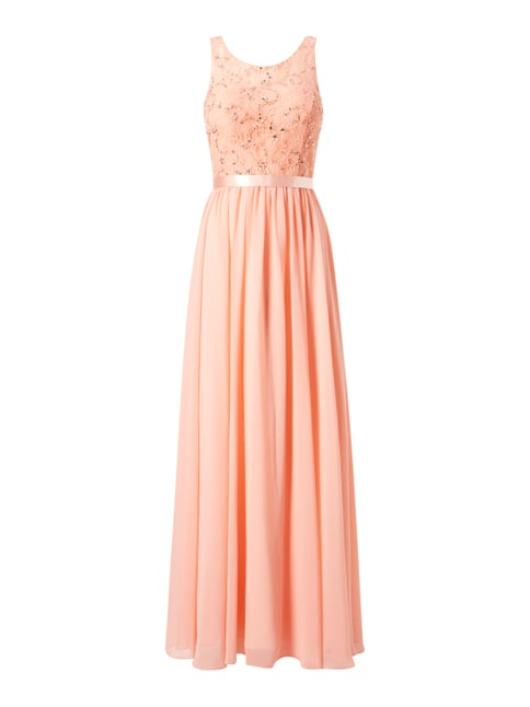 Abendkleid mit Stola Orange - 1