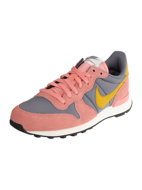 Internationalist Sneaker mit Besatz aus Veloursleder Rosé - 1