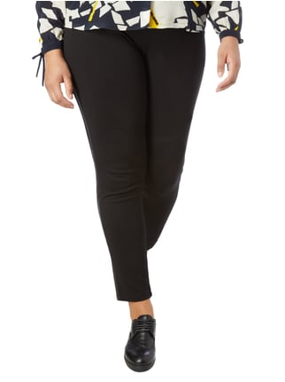 No Secret PLUS SIZE - Leggings mit Zierstreifen Schwarz - 1