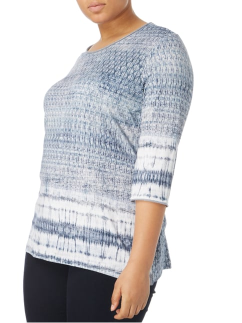 No Secret PLUS SIZE - Shirt mit Allover-Muster Bleu - 1