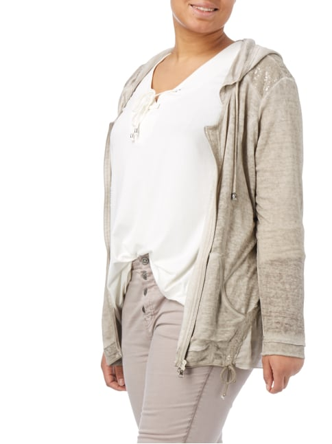 No Secret PLUS SIZE - Strickjacke mit Pailletten-Besatz Sand - 1