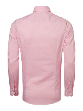 OLYMP Level 5 Body Fit Business-Hemd mit feinem Gittermuster Pink - 1