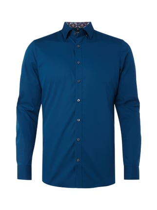 Body Fit Business-Hemd mit Under-Button-Down-Kragen Blau / Türkis - 1