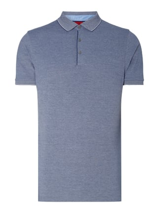 Body Fit Poloshirt mit Stretch-Anteil Blau / Türkis - 1