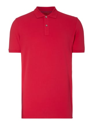 Body Fit Poloshirt mit Stretch-Anteil Rosé - 1