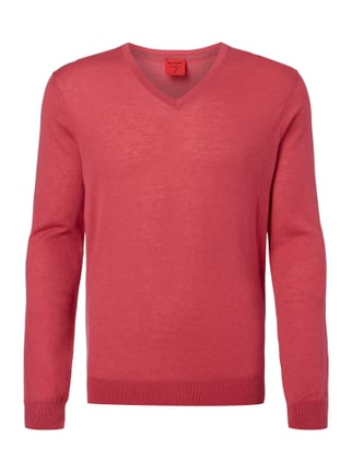 Body Fit Pullover aus Schurwoll-Seide-Mix Rosé - 1
