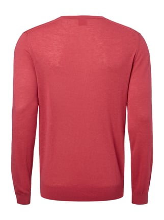 OLYMP Level 5 Body Fit Pullover aus Schurwoll-Seide-Mix Rosé - 1