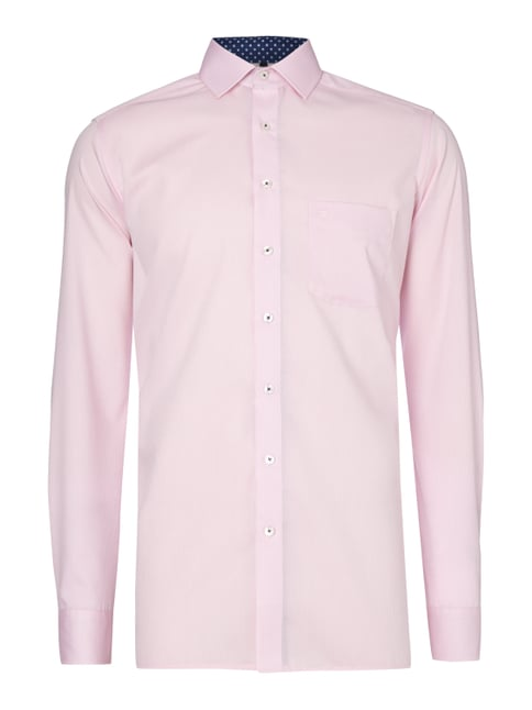 Modern Fit Business-Hemd mit extralangem Arm Rosé - 1
