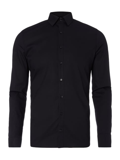 Super Slim Fit Business-Hemd - bügelleicht Grau / Schwarz - 1