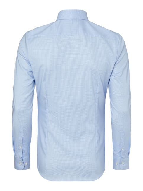 Olymp No.6 Super Slim Fit Business-Hemd mit Hahnentrittmuster Bleu - 1