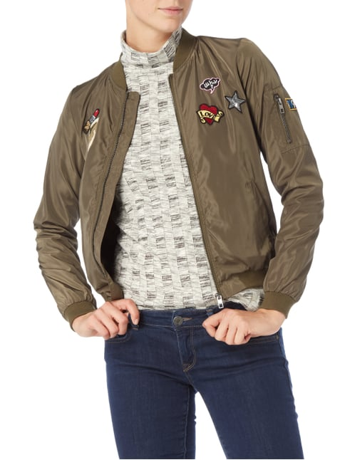 Only Bomber mit Patches Olivgrün - 1