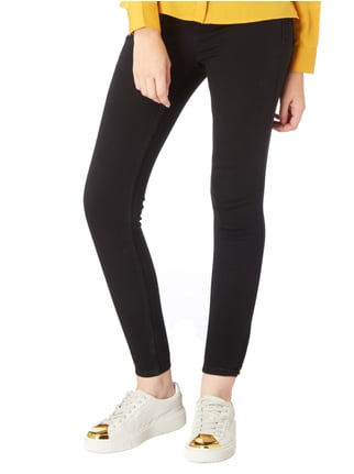 Only Coloured Skinny Fit Jeans mit Stretch-Anteil Schwarz - 1