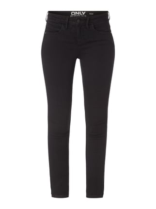 Coloured Skinny Fit Jeans mit Stretch-Anteil Grau / Schwarz - 1