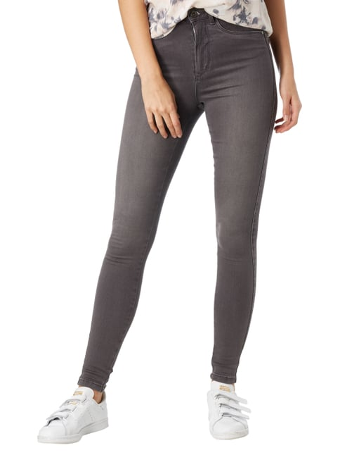 Only Coloured Skinny Fit Jeans Mittelgrau - 1