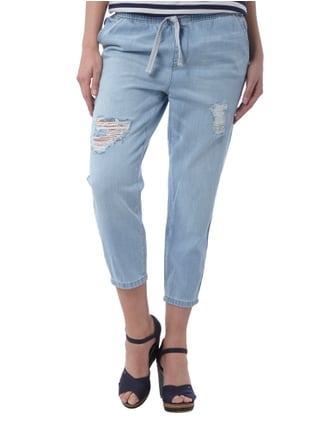 Only Cropped Jogpants im Destroyed Look Jeans - 1
