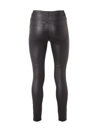 Only Destroyed Skinny Fit Treggings Schwarz - 1