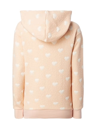 Only Hoodie mit Herzmuster Apricot - 1