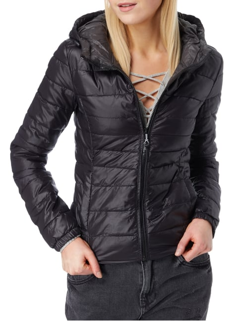 Only Light-Steppjacke mit Kapuze Schwarz - 1