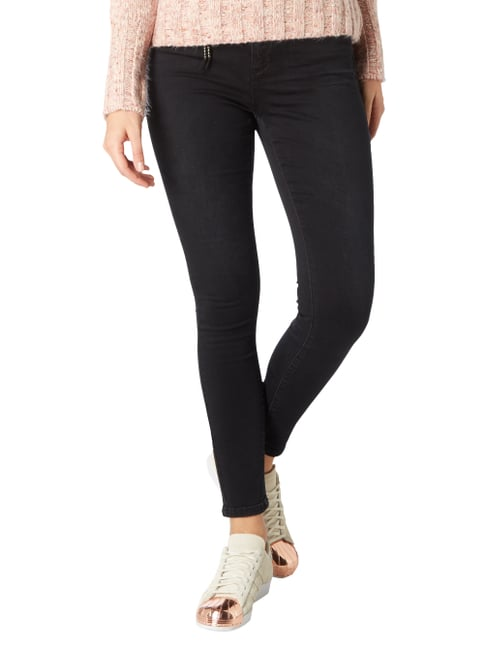 Only Light Stone Washed Skinny Fit Jeans Schwarz - 1