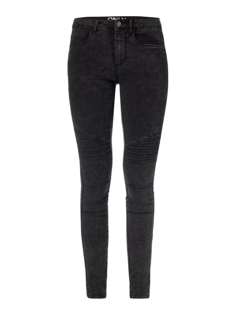 Moon Washed Skinny Fit 5-Pocket-Jeans Grau / Schwarz - 1