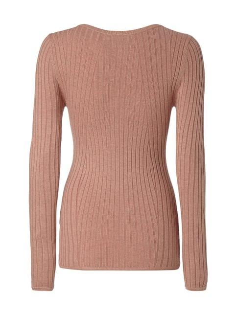Only Pullover im Rippenstrick Rosa meliert - 1